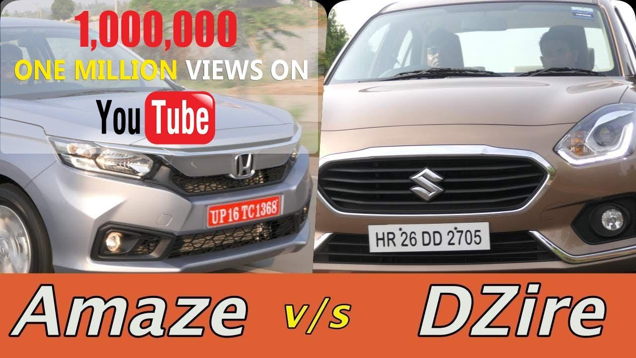 Motoroctane Youtube Video - Honda Amaze 2018 vs Maruti DZire Comparison in Hindi | MotorOctane