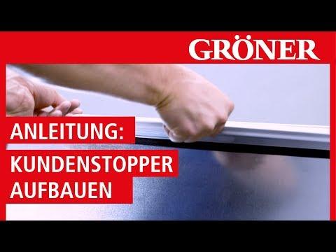 GRÖNER | Display - Kundenstopper Aufbau Anleitung | Kundenstopper