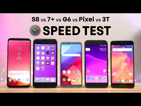 iPhone 7 Plus vs Samsung Galaxy S8 vs Google Pixel vs OnePlus 3T vs LG G6: Speed Test tra i migliori