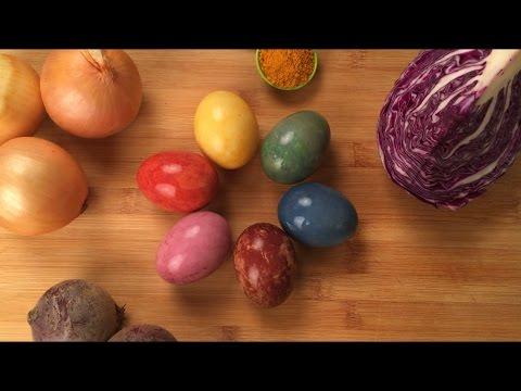 Окрашивание яиц натуральными красителями