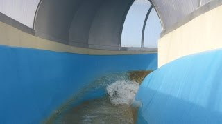 preview picture of video 'Freizeitbad Greifensteine Geyer   Wildwasser Rutsche Onride'