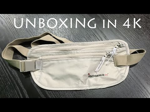 Deluxe Money Belt with Rfid Blocking By IGOGEER Unboxing & Review in 4K