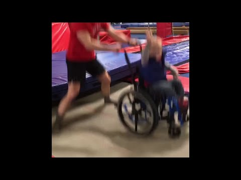 A North Dakota charity event turned into worldwide inspiration when a 4-year-old boy performed his favorite trampoline act in his wheelchair. Wyatt Burggraff bounces at a gym with programs for kids with disabilities (Feb. 21)