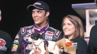 WATCH: Race Car Driver's Lasting Love of Dogs