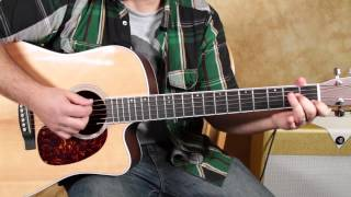 Black Water - The Doobie Brothers - Acoustic Songs On Guitar Lessons - Blues Classic Rock