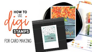 How To Use Digital Stamps For Card Making
