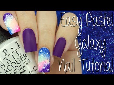 Easy Pastel Galaxy Nail Tutorial