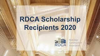 Red Deer Construction Association Scholarship Recipients 2020