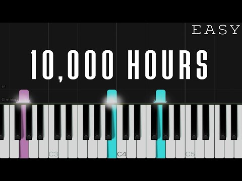 Dan + Shay, Justin Bieber - 10,000 Hours | EASY Piano Tutorial