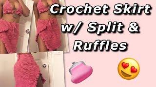 Crochet Skirt W/ Ruffles Tutorial