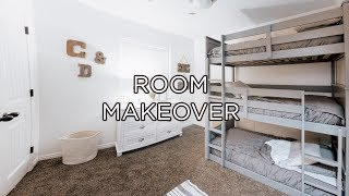 Extreme Bedroom Makeover In Less Than 24 Hours!! New Triple Bunk Beds