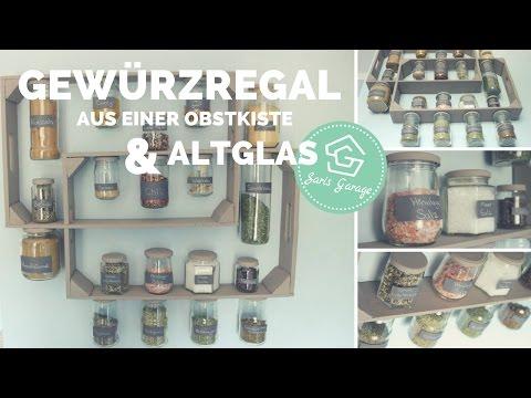 Gewürzregal aus Obstkisten & Weinkisten   Regal selber bauen   Holzregal    Upcycling & DIY Idee