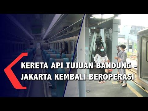 Kereta Api Tujuan Bandung - Jakarta Kembali Beroperasi