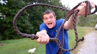 I BOUGHT THE CHEAPEST BULL WHIP ON AMAZON!