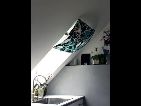 Dachfenster Vorhang nähen, Anleitung mit kostenlosem Schnitt