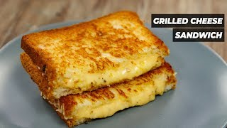 Grilled Cheese - Cafe Style Double Cheeze Sandwich Recipe - CookingShooking