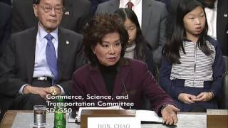 Fischer Exchange with Transportation Secretary Nominee Elaine Chao