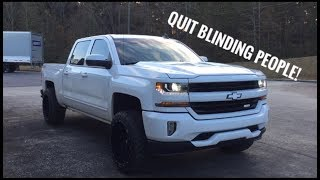 How to adjust headlights - 2016-2018 Silverado