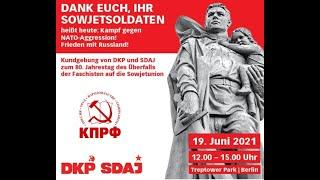 Kundgebung von DKP und SDAJ zum 80. Jahrestag des Überfalls der Faschisten auf die Sowjetunion