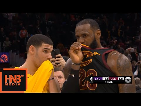 LeBron James & Lonzo Ball Talking After The Game / Cavaliers vs Lakers