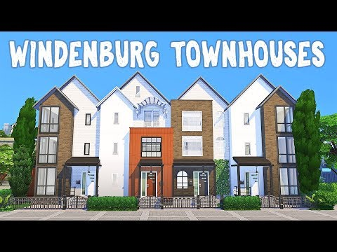 Windenburg Townhouses || The Sims 4: Speed Build #1