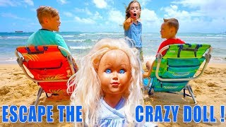 Video Escape the Crazy Doll! Sneak Attack Nerf Adventure Showdown in Hawaii! The Sneaky Doll Returns! MP3, 3GP, MP4, WEBM, AVI, FLV September 2019