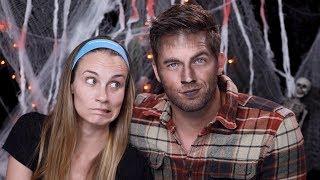 Halloween Werewolf Makeup Tutorial With Matt Lanter | Angela Lanter