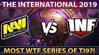 NAVI vs INFAMOUS - MOST WTF SERIES OF THE DAY! MEGA CREEPS COMEBACK #TI9 - THE INTERNATIONAL 2019