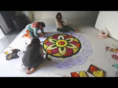 beautiful onam pookalam
