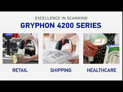 Datalogic Gryphon GBT4200 1D Barcode Scanner video thumbnail