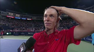 """Elated Shapovalov """"can't even talk"""" after huge win over Nadal"""