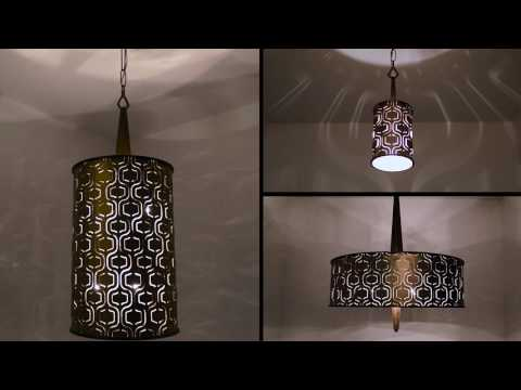 Video for Iconic Champagne Mist Six-Light Tall Foyer Pendant