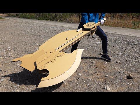 日本網友用厚紙板自製魔物獵人武器