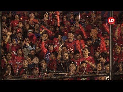 """""""El Color de la final del Clausura 2017"""" Barra: La Banda del Rojo • Club: Municipal"""