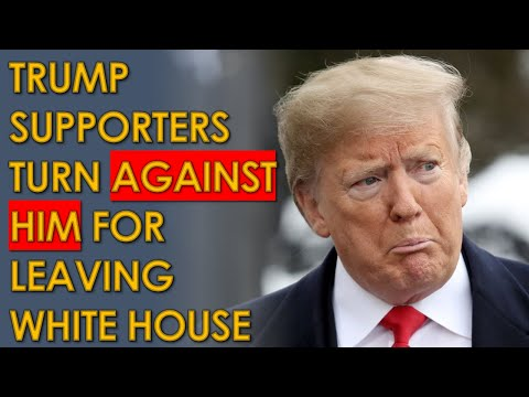 """Trump Supporters ABANDON him after he """"Retreats"""" From the White House and """"Betrays"""" them"""