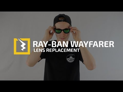 How to replace Hard to Get Out Glass Lenses in your Ray-Ban Original Wayfarers