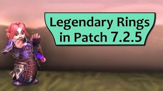 Legendary Rings in 7.2.5 - Soul of the Free Talent