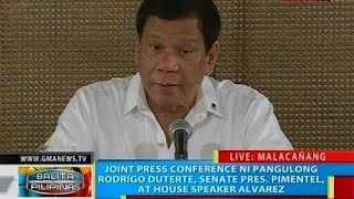 NTVL: Press conference ni Pangulong Duterte