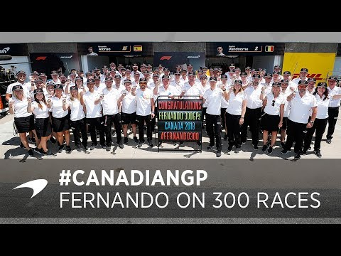 Fernando celebrates 300 Grand Prix Appearances!