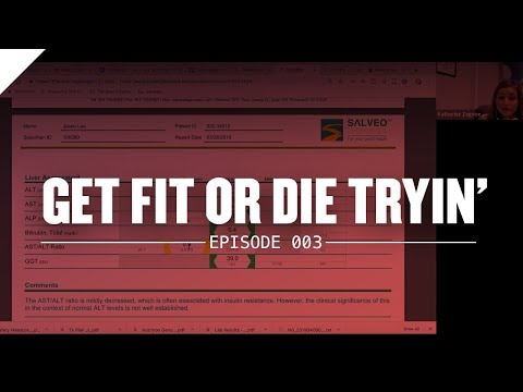 Reviewing Lab Work with Dr. Zagone on Get Fit or Die Tryin'
