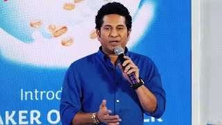 Sachin Tendulkar BEST Speech At Launches Quaker Oats & Milk
