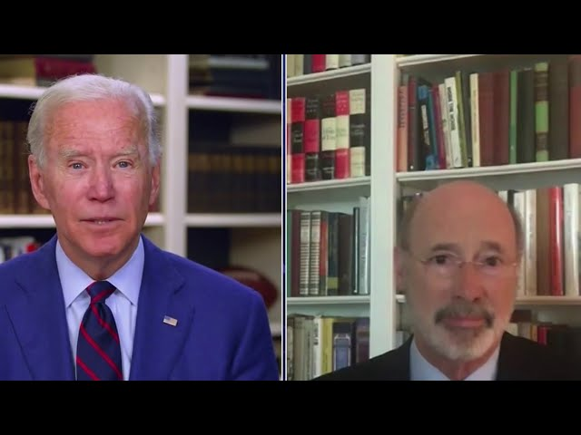 Pennsylvania Gov. Tom Wolf Endorses Joe Biden for President | NBC10 Philadelphia