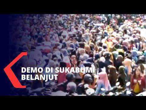 demo uu cipta kerja di sukabumi berlanjut diikuti buruh dan mahasiswa