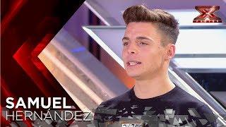 Pausini no puede evitar levantarse tras la gran actuación de Samuel | Audiciones 5 | Factor X 2018 - Video Youtube