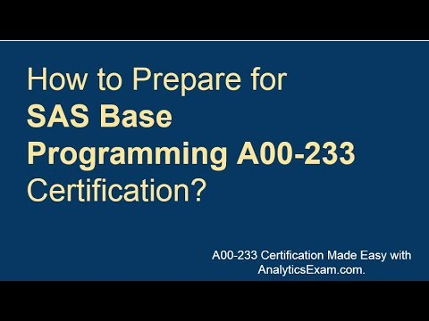 SAS Base Programming (A00-233)   Sample Questions   Practice ...