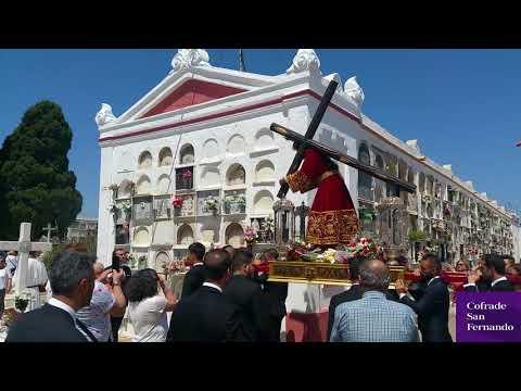 El Nazareno entra en el cementerio dentro de su peregrinación
