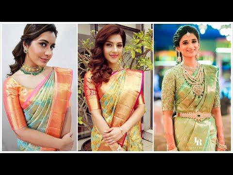 #silksaree #wedding Silk Saree Trends 2020 | Bridal Silk Saree | South Indian wedding saree |