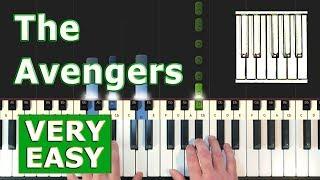 Avengers Theme - EASY Piano Tutorial - (Synthesia)