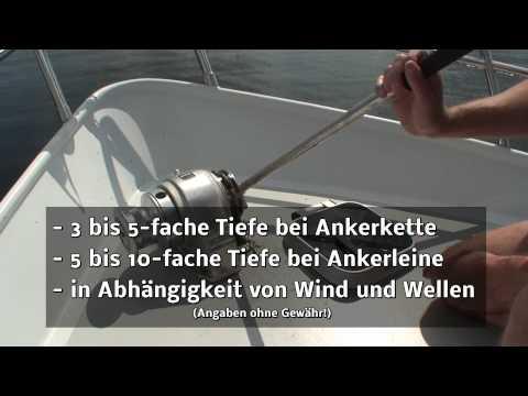 Skippertraining: Richtig Ankern mit dem Charterboot