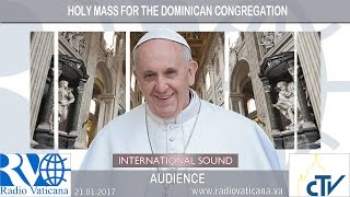 2017.01.21 Holy Mass for the 8th Centenary of the Dominican Order